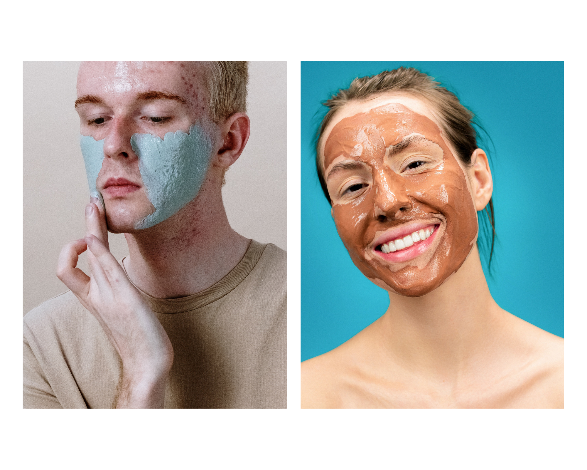 people applying facemasks on themselves