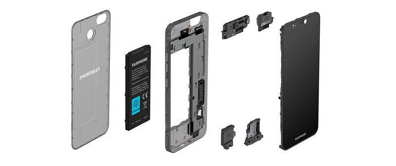 Exploded View of the Fairphone 3 plus