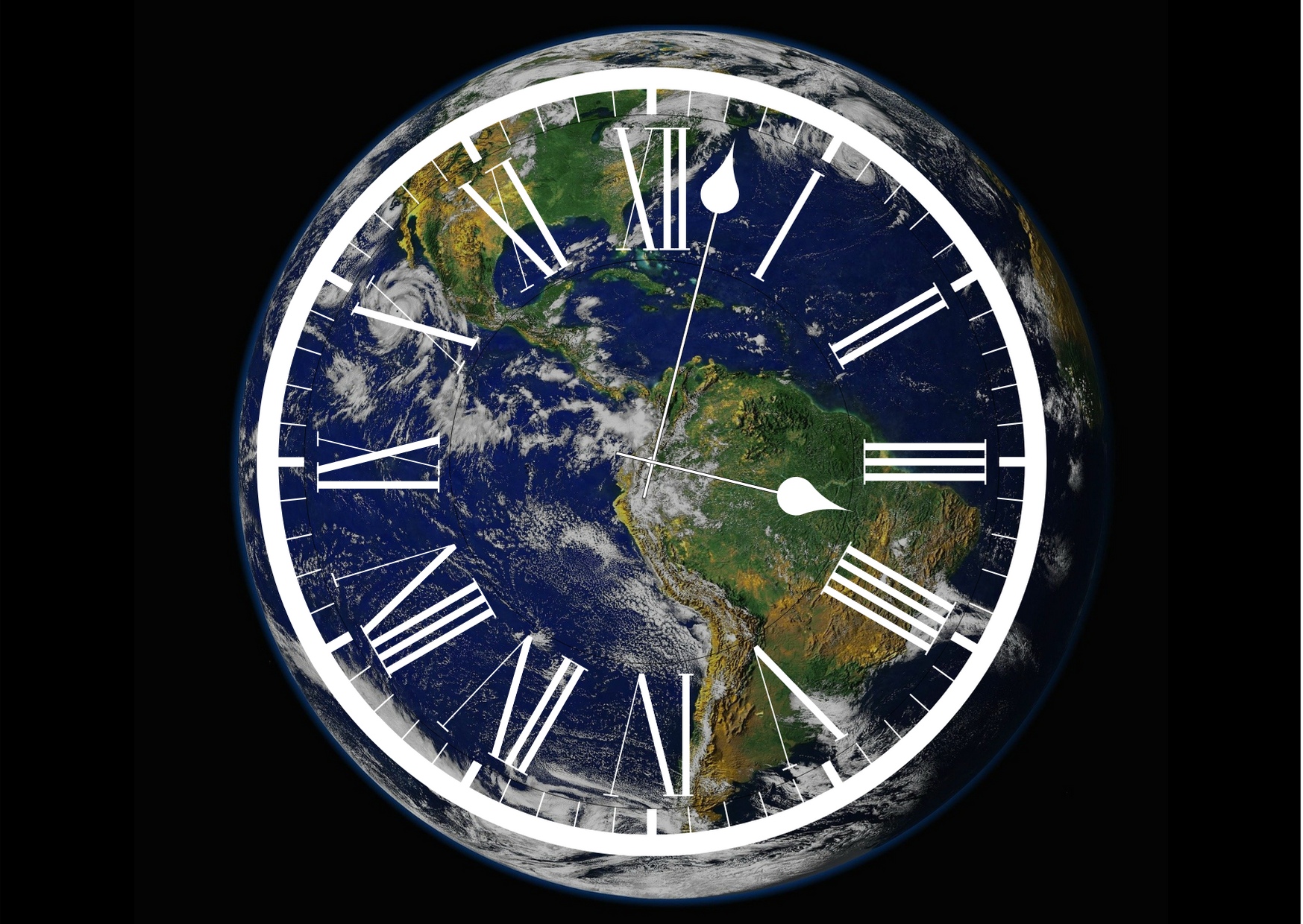 Earth with a clock