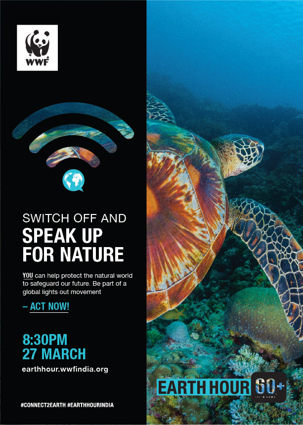 Poster by WWF India for Earth Hour 2021