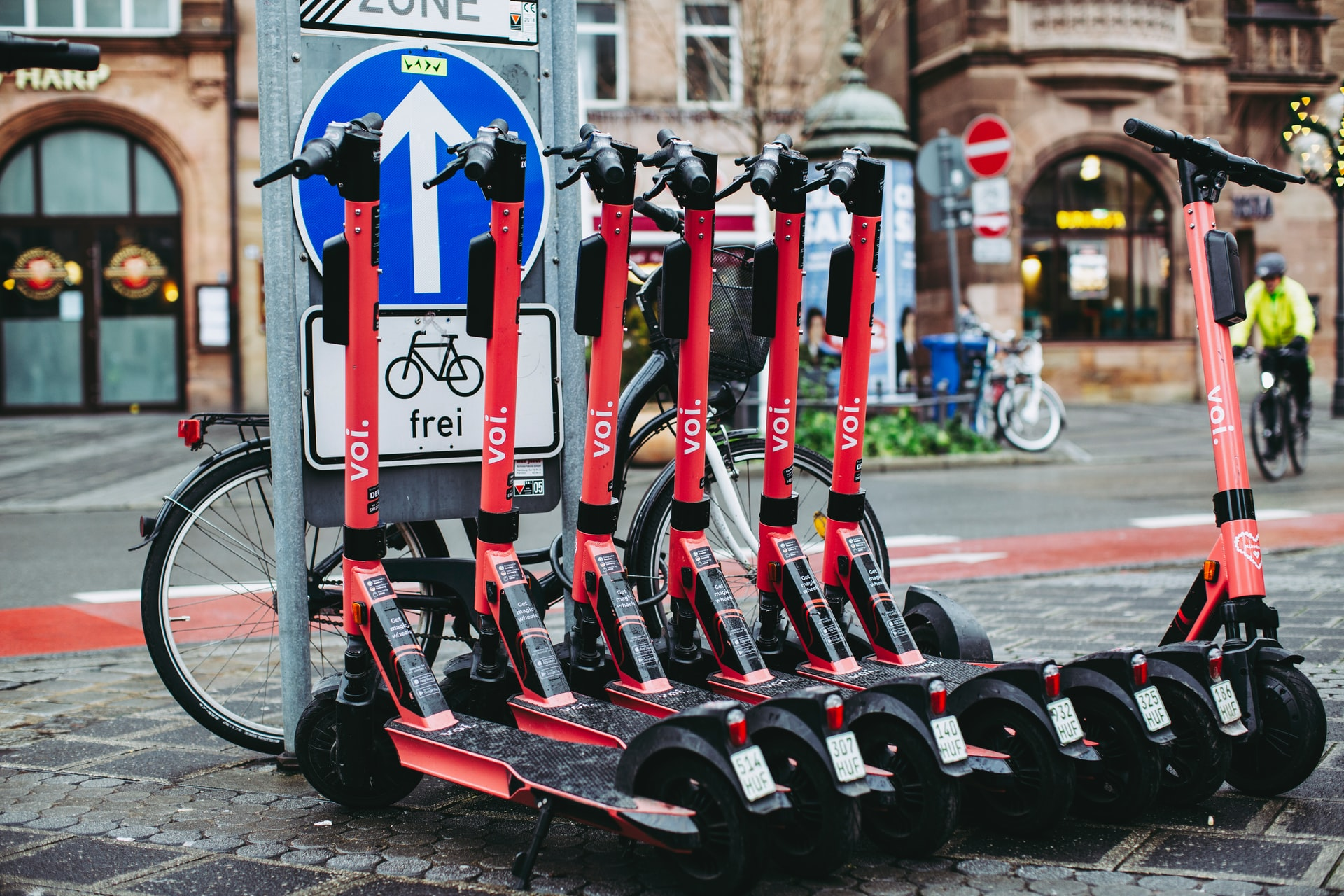 E-scooters in one line.