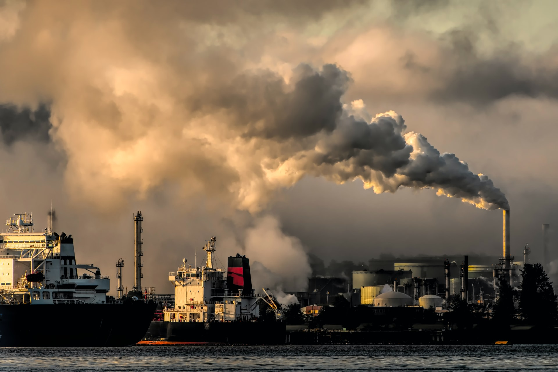Factory with emissions.