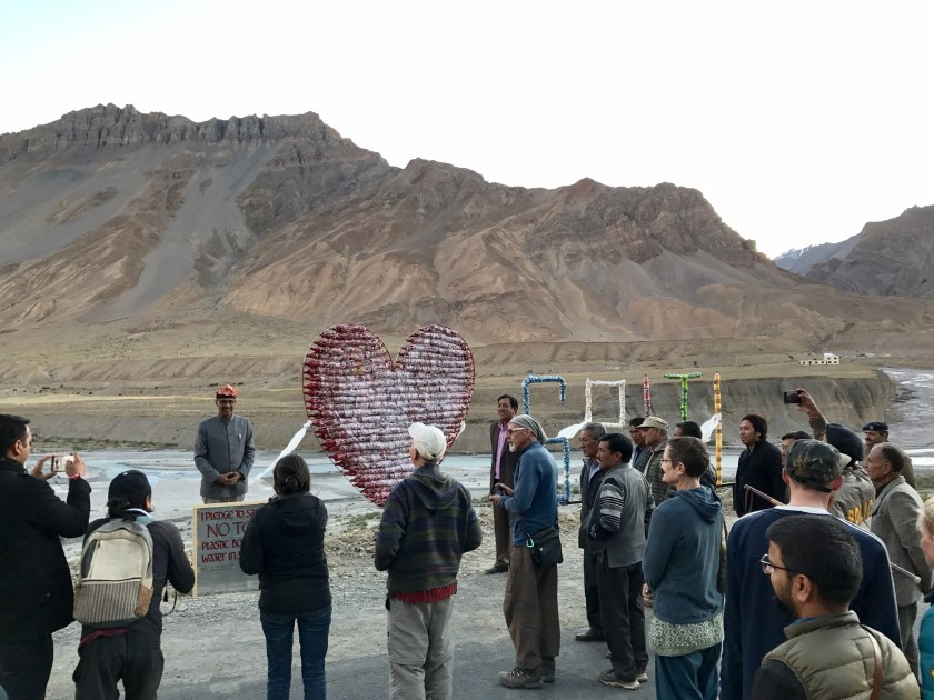 InstaMeet aat the 'I love Spiti' installation attended by local politicians and folks of Spiti. Photo: Shivya Nath