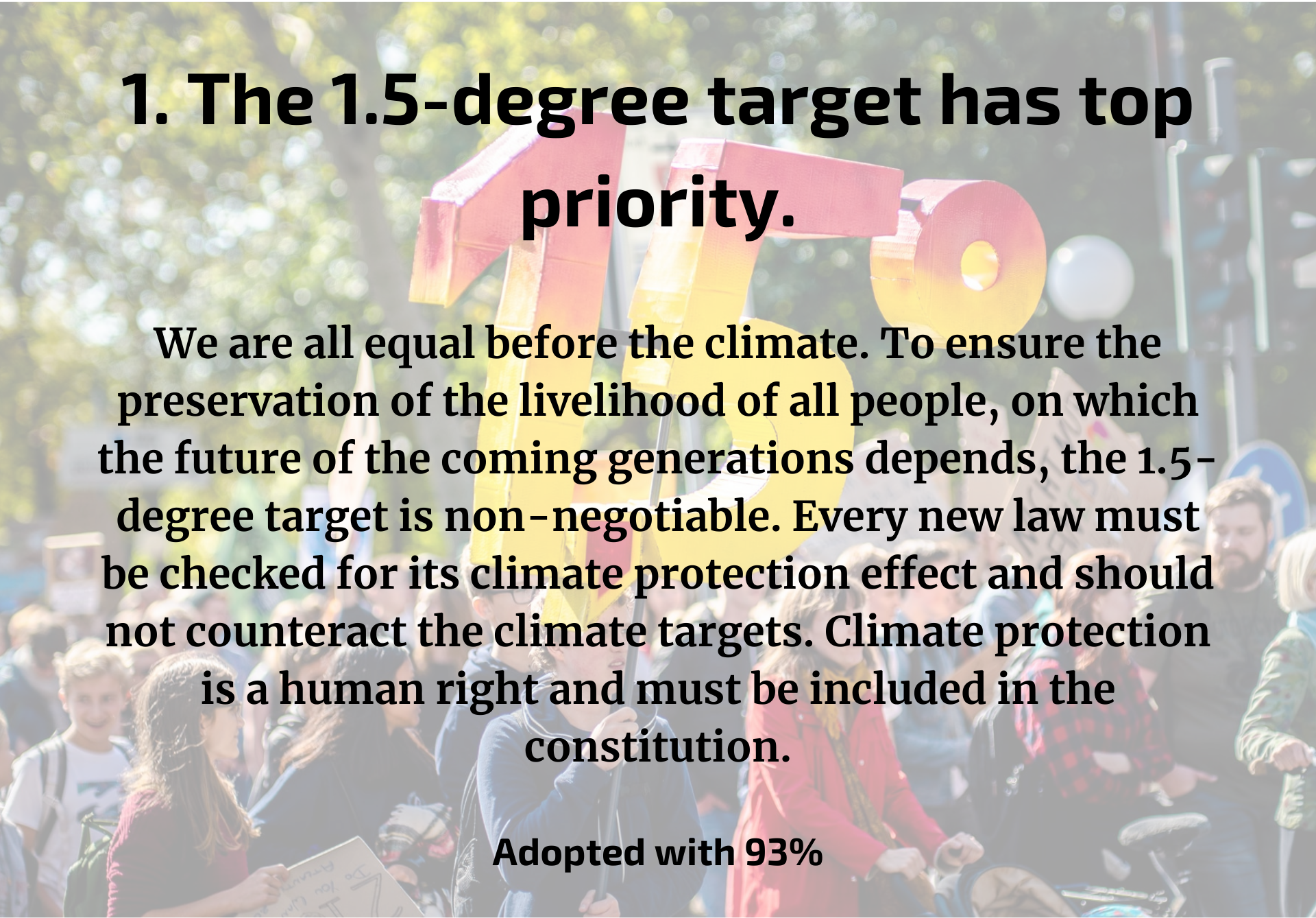 Overarching guiding principles climate Germany.